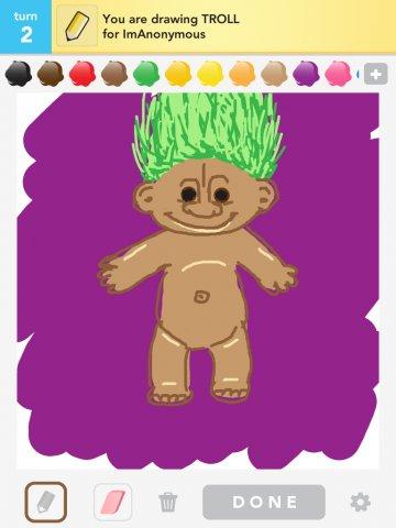 how to draw a cute troll