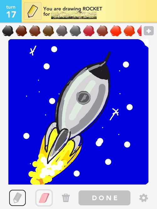 how to ddaw draw a rocket