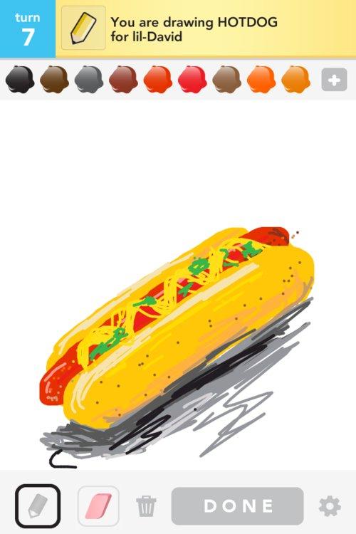 Hot Dog Drawing Hotdog-draw_something