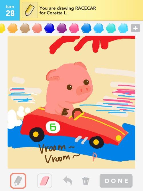 Pig_racecar