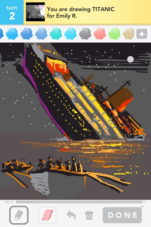 Titanic Drawings - How...