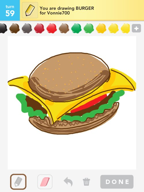 how to draw a burger snapchat