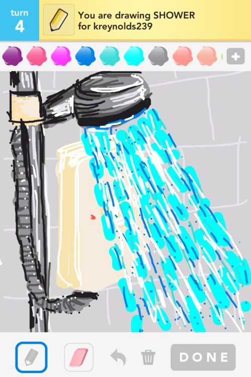 Shower Drawing