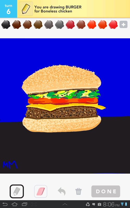 how to draw a realistic burger
