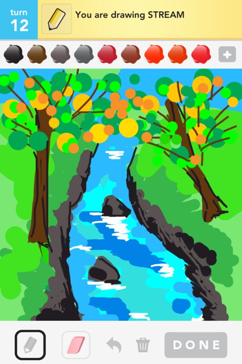 Mountain Stream Drawing by Troy Levesque