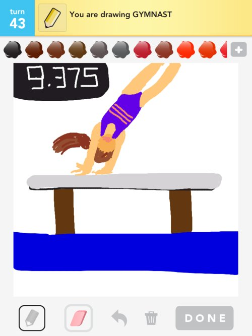 how to draw a gymnist