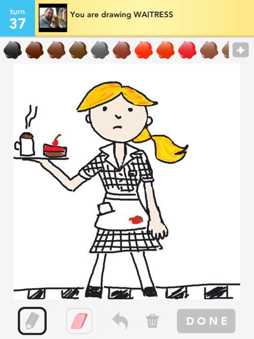 Waitress Drawings How To Draw Waitress In Draw Something