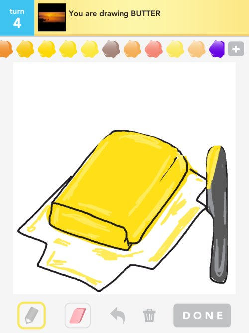 Butter Drawings How To Draw Butter In Draw Something