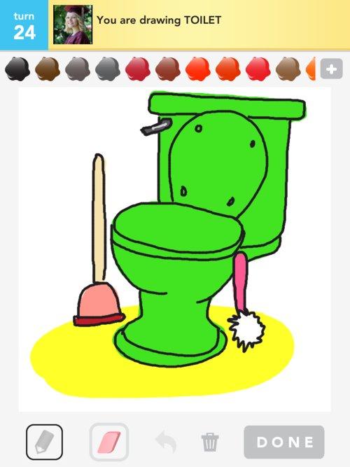 drawing a toilet. Black Bedroom Furniture Sets. Home Design Ideas