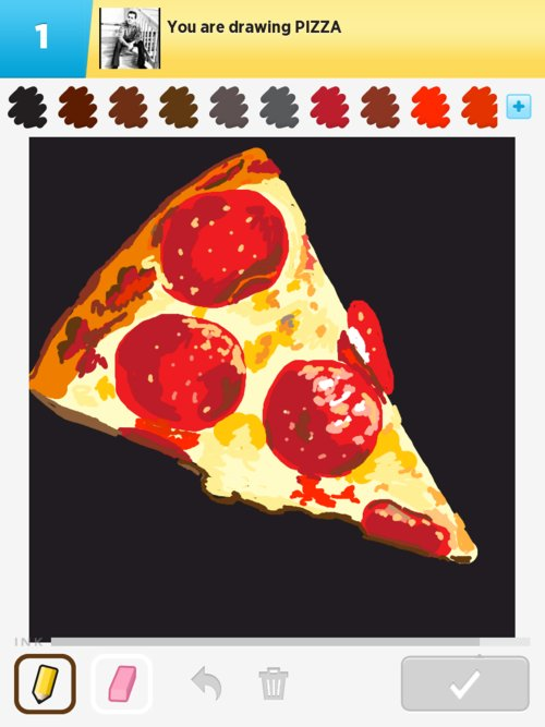 how to draw pizza with the word pizza