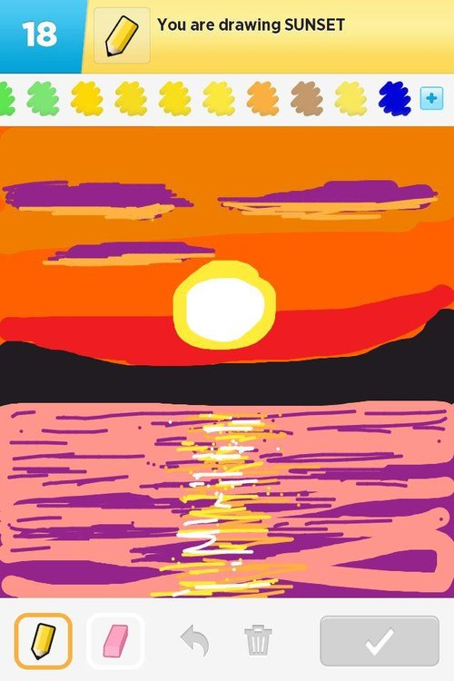 Best Sunset Drawings 180 of The Best Draw Something