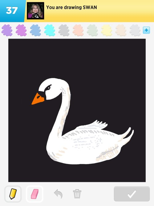 how to draw a swan on a lake
