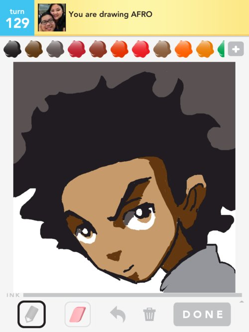 how to draw an afro