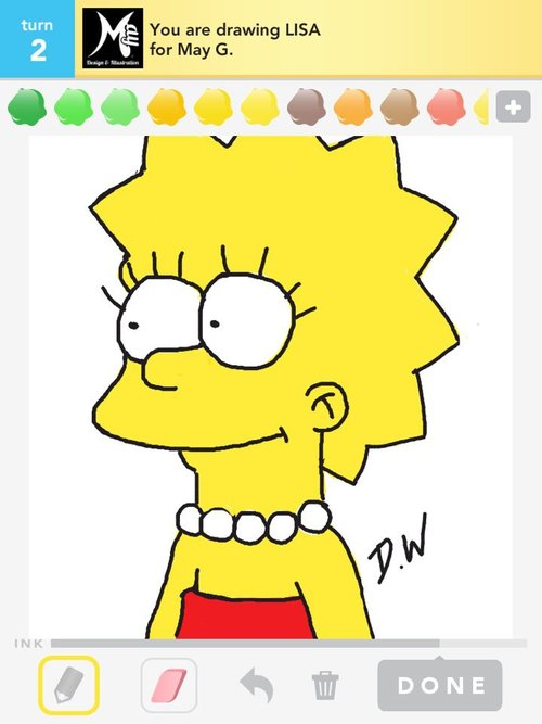 How To Draw Lisa Simpson 08jpg