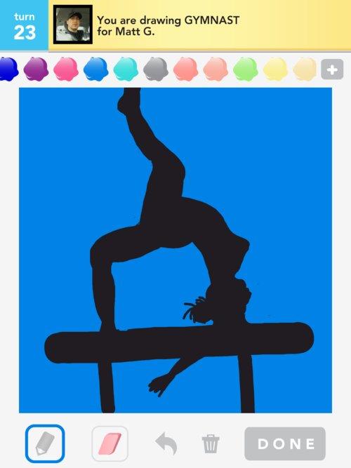 how to draw a gymnast