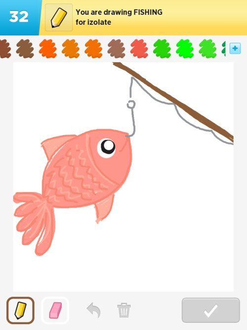 how to draw a fishing net