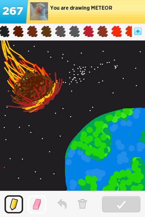Meteor Drawings - How to Draw Meteor in Draw Something ...