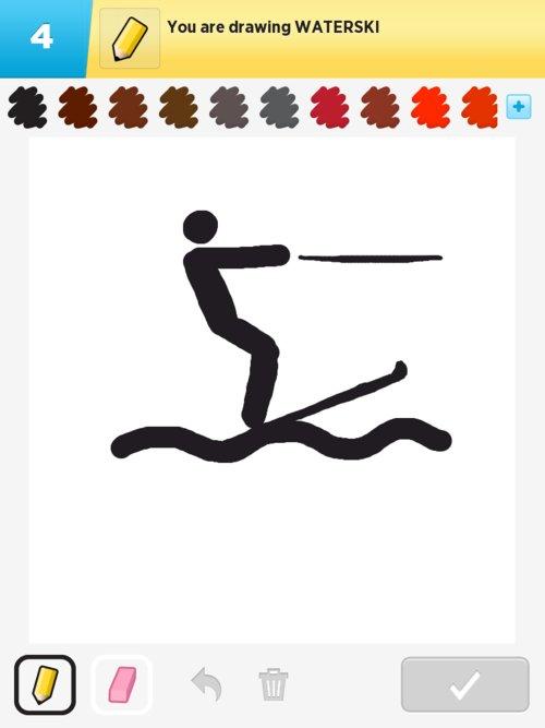 Water Skiing Drawing