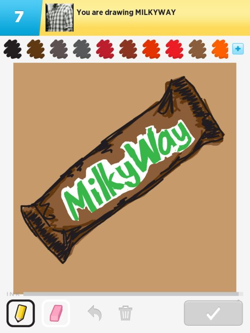 Milkyway Drawings How To Draw Milkyway In Draw Something The
