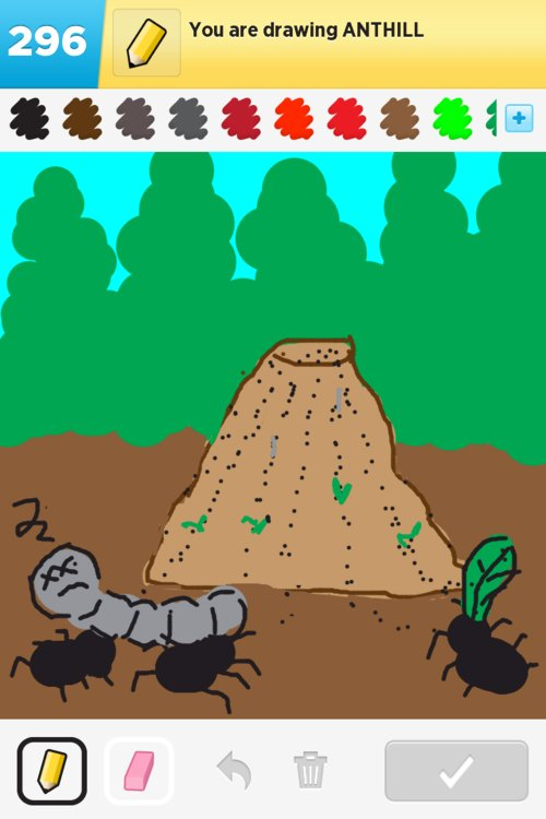 Anthill drawing - photo#12