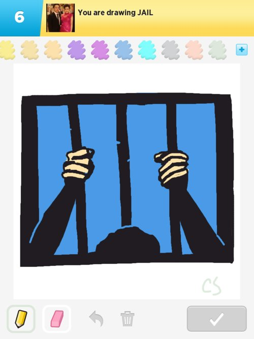 how to draw a jail from the outside