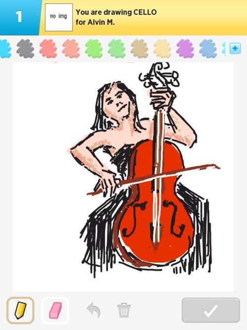Qikdraw-cello