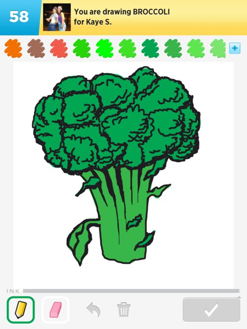 Broccoli Drawings - How to Draw Broccoli in Draw Something ...