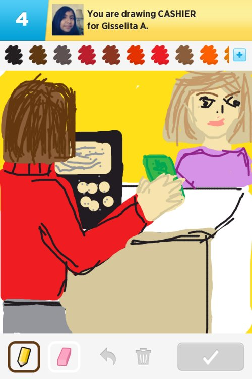 how to draw a cashier