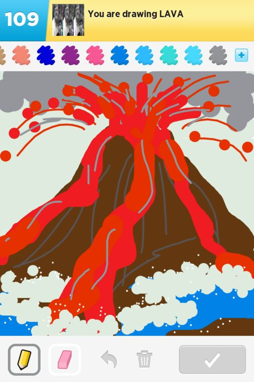lava drawings - how to draw lava in draw something