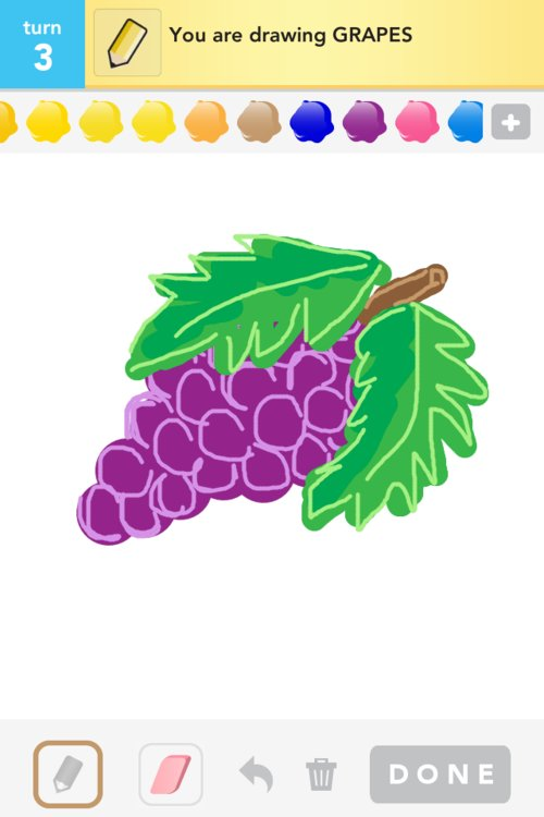 how to draw grapes easily