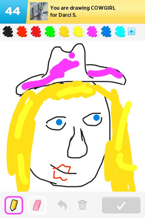 how to draw a cowgirl