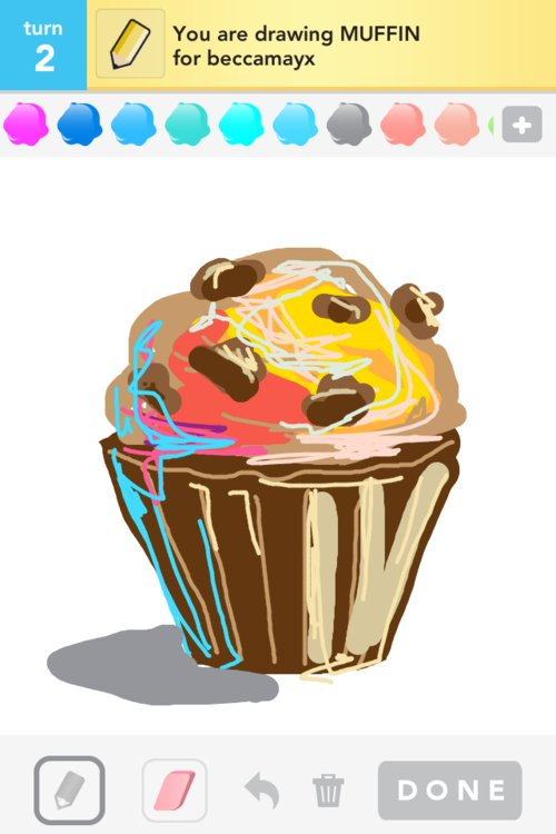 how to draw a muffin