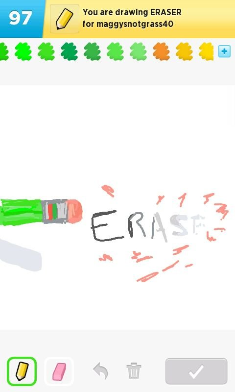 how to erase in draw it