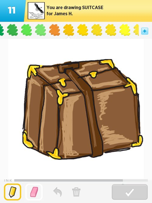 how to draw a suitcase