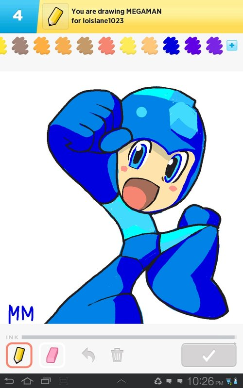 Megaman Drawings How To Draw Megaman In Draw Something