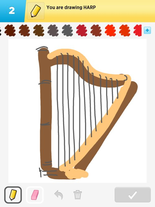 Harp Drawings - How to Draw Harp in Draw Something - The ...