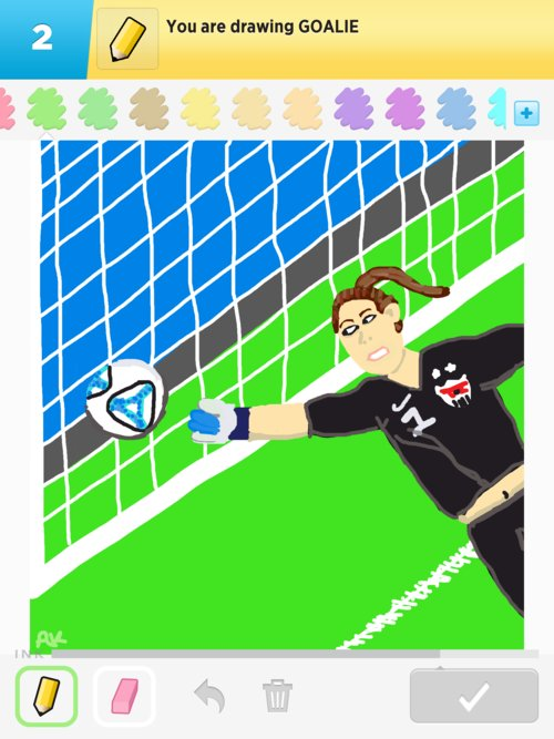 how to draw a goalie
