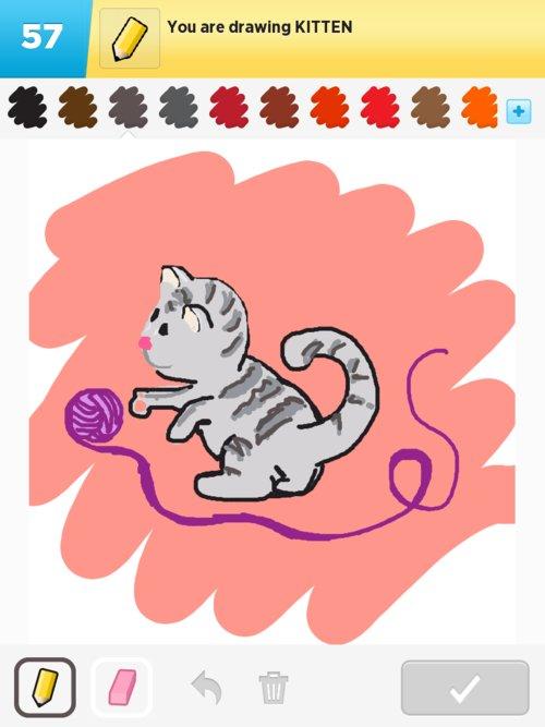Pink Kitten Drawing Img_0616