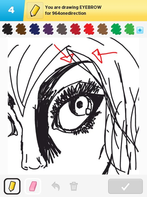 how to draw eye brow