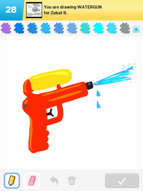 Watergun Drawings - How To Draw Watergun In Draw Something - The Best Draw Something Drawings ...