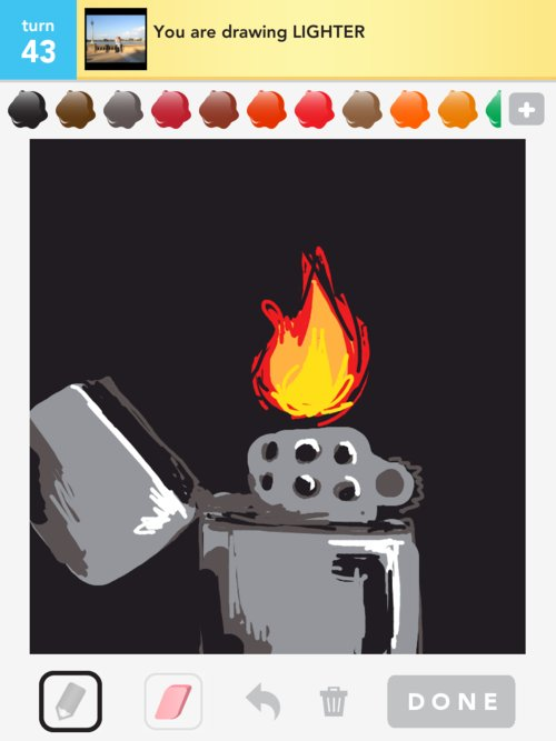 how to draw a lighter