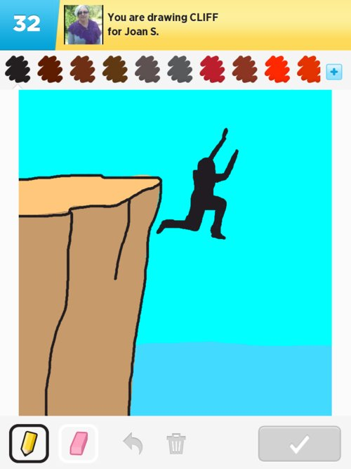 how to draw a cliff side
