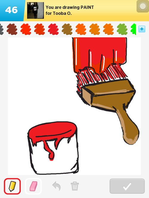 how to send something to front in paint