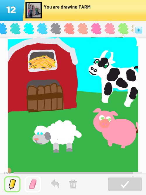 Farm drawings how to draw farm in draw something the for How to draw a farmhouse