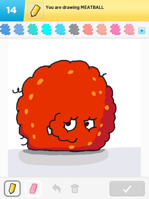 Meatball Drawings How To Draw Meatball In Draw Something The