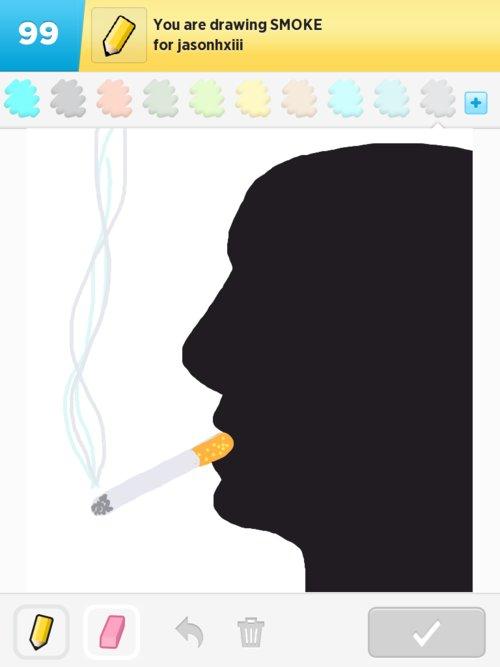 how to digitally draw smoke cloud