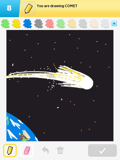 how to draw a comet