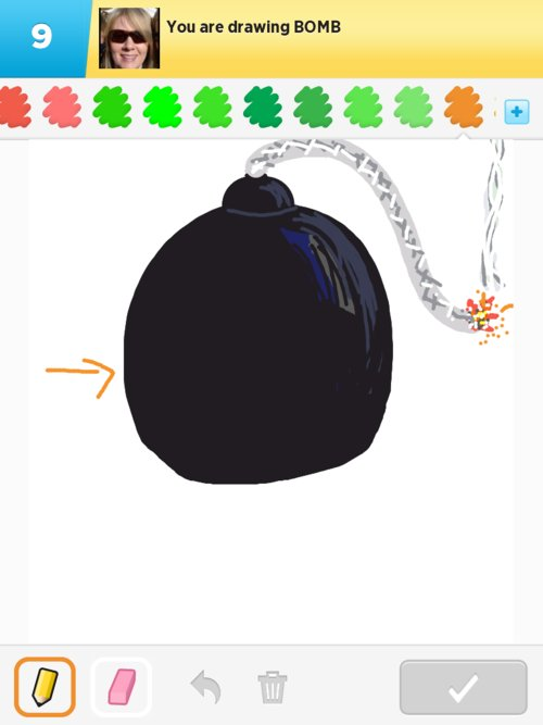 how to draw a bomb