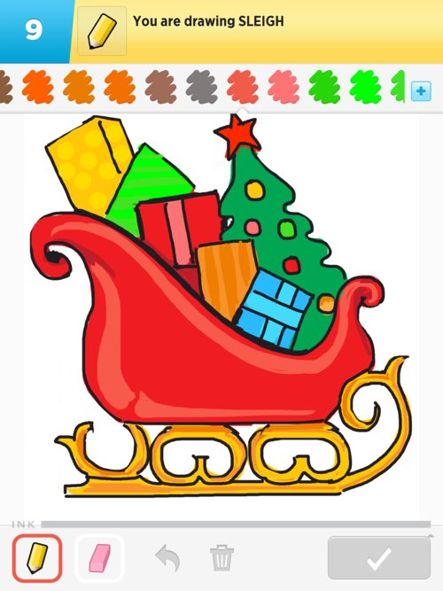 How To Draw Santas Sleigh