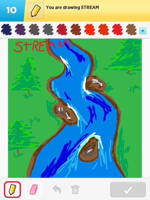 How to Draw a Stream, Step by Step, Watermasses, Landmarks ...